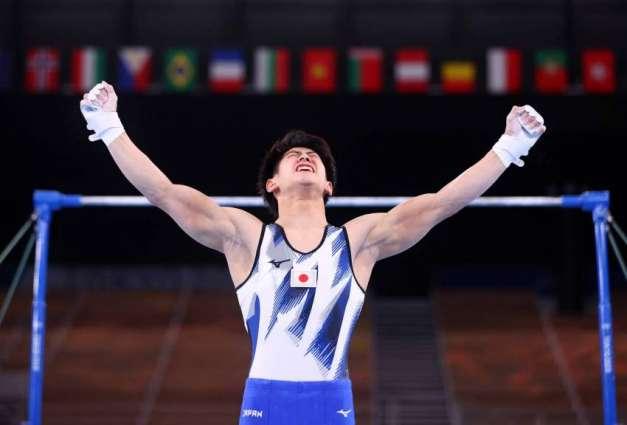 Japanese Gymnast Hashimoto Wins Men's Horizontal Bar Event at Tokyo Games