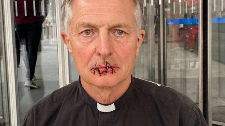 UK Priest Sews Mouth Shut Over Silencing of Climate Change by Murdoch-Owned Media