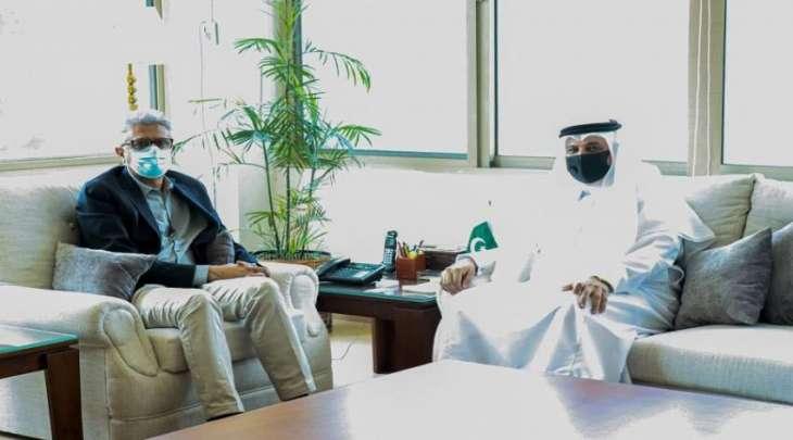 مستشار رئیس وزراء باکستان لشوٴون الصحة یجتمع بسفیر السعودیة لدي اسلام آباد
