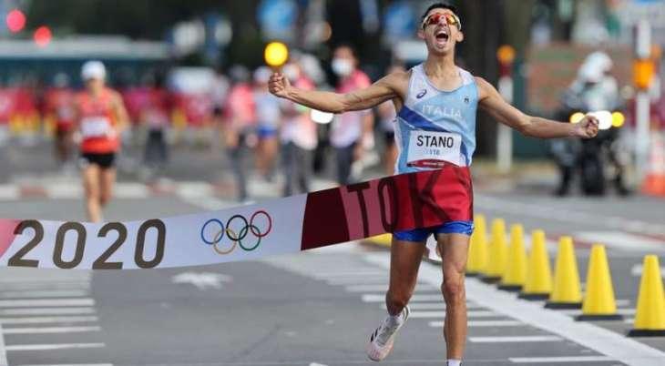 Italy's Massimo Stano Wins Men's 20km Race Walk at Tokyo Olympics