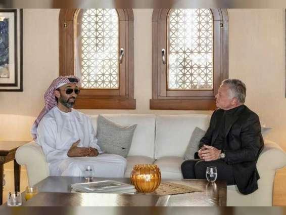 ملك الأردن يستقبل وفدا برئاسة طحنون بن زايد