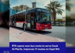 RTA opens new bus route to serve Souk Al Marfa, improves 11 routes on 9th September