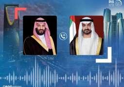 محمد بن زايد يبحث هاتفيا مع محمد بن سلمان مسيرة العلاقات الأخوية وقضايا المنطقة