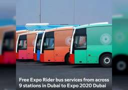 RTA announces free Expo Rider buses for Expo visitors from 9 locations in Dubai