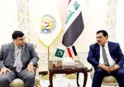 سفیر باکستان لدی البغداد أمجد علي یجتمع رئیس اتحاد الغرف التجاریة العراقیة
