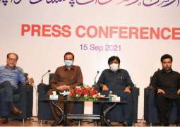 President Arts Council Mohammad Ahmed Shah holds a press conference with Provincial Minister for Culture & Education Syed Sardar Ali Shah, and Administrator Karachi Murtaza Wahab to provide updates on Omer Sharif's treatment abroad, Jawad Omer son of Omer Sharif also joined