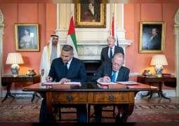 بحضور محمد بن زايد و بوريس جونسون.. إعلان شراكة للاستثمار السيادي بين مبادلة ووزارة التجارة البريطانية بــ 10 مليارات جنيه استرليني