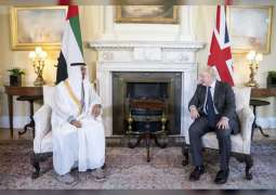 Mohamed bin Zayed, UK Prime Minister discuss cooperation, latest regional developments