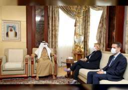 Nahyan bin Mubarak receives Georgian Economy Minister