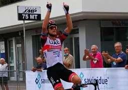 """""""الإمارات للدراجات"""" يحرز المركز الأول في سباق تروفيو ماتيوتي بإيطاليا والثالث في فرانكفورت."""