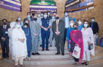 U.S. Government And Pakistan Health Officials Observe Donated Pfizer Vaccinations