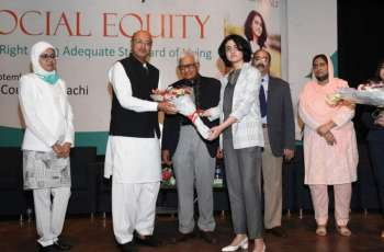 """Arts Council of Pakistan Karachi holds the book launch ceremony of """"Social Equity"""" written by 15-year-old Syeda Rubab Aali"""