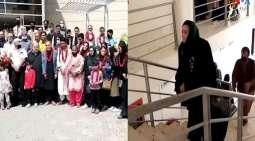 فریق کرة القدم النسائي الأفغانی یصل الی باکستان