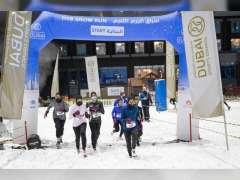 نجاح كبير للنسخة الثانية من سباق دبي للجري الثلجي