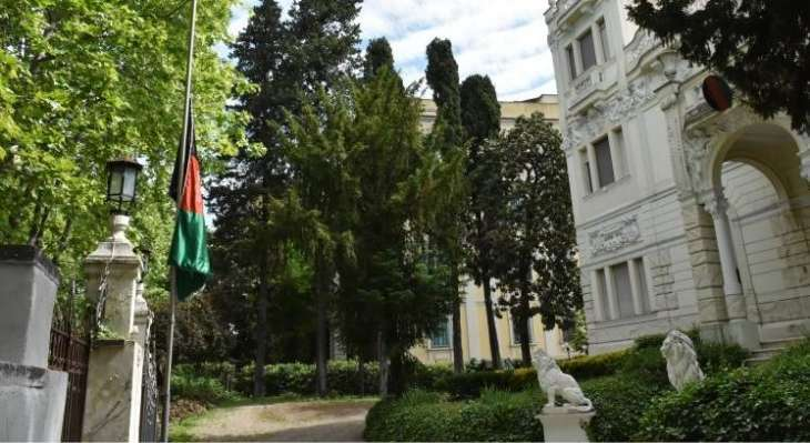 Afghan Embassy in Rome Continues to Fly Republic's Flag