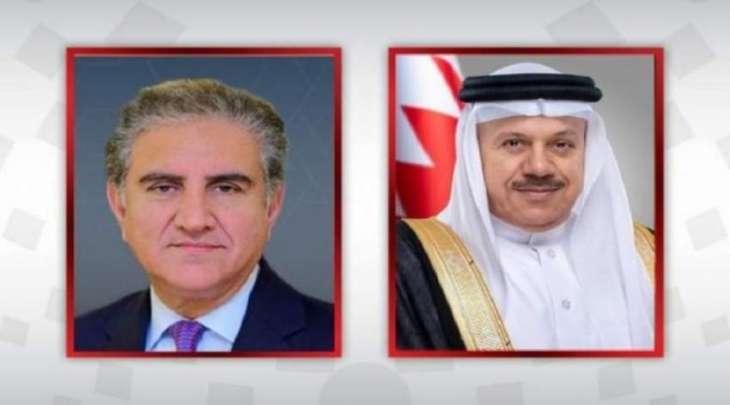 وزیر خارجیة باکستان شاہ محمود قریشي یجری اتصالا ھاتفیا مع نظیرہ البحریني