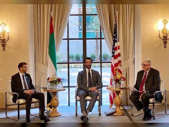 ابن طوق يطلع مجلس الأعمال الأمريكي - الإماراتي على فرص الاستثمار بالإمارات في ظل الخمسين