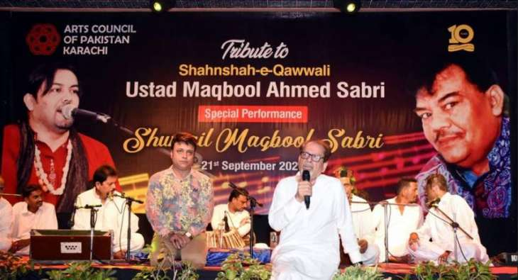 The Arts Council of Pakistan Karachi hosts a qawwali night to pay homage to the legendary Ustad Maqbool Ahmed Sabri on his 10th Death anniversary