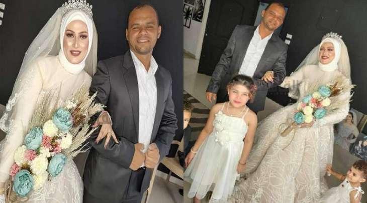 شاھد : زوجان یحتفلان بزفافھما رفقة أطفالھم بعد خمس سنوات من الزواج