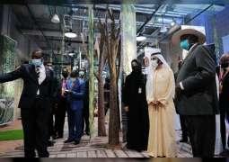 Mohammed bin Rashid meets with the President of Uganda