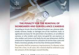 Public Prosecution explains penalties of removal of signboards, surveillance cameras