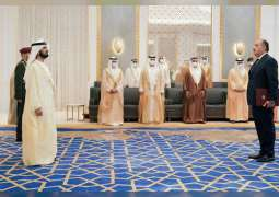 محمد بن راشد يتسلم أوراق اعتماد مجموعة من السفراء الجدد المعينين لدى الدولة