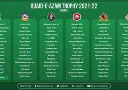 Quaid-e-Azam Trophy 2021-22 squads announced