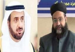 رئیس مجلس علماء باکستان یھنئي الدکتور توفیق الربیعة علی تعیینہ وزیرا للحج و العمرة بالسعودیة