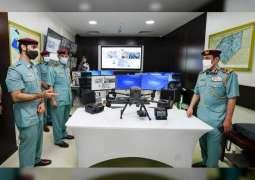 """قائد عام شرطة عجمان يفتتح مركز الدعم الجوي """"Drone"""""""