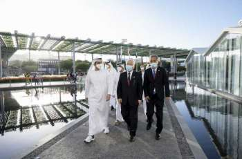 """ذياب بن زايد يزور جناح اليابان المشارك في """" إكسبو 2020 دبي"""""""