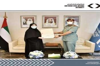 هيئة أبوظبي للدفاع المدني تكرم الفائزين بجائزة أفضل مقطع توعوي