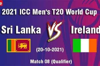 T20 World Cup 2021 Match 08 Sri Lanka Vs. Ireland, Live Score, History, Who Will Win