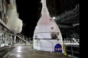 US Completes Orion Spacecraft Stacking on Mega Moon Rocket for Artemis Mission - NASA