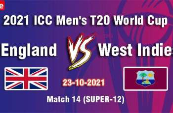T20 World Cup 2021 Match 14 England Vs. West Indies, Live Score, History, Who Will Win