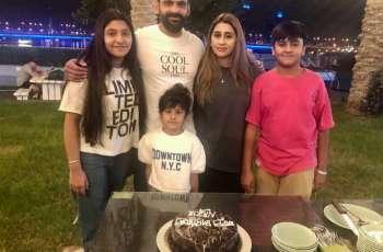 Mohammad Hafeez thanks Sania Mirza for birthday cake on his wife's birthday
