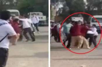 اصابة طالب طعنا علی ید أصدقائہ داخل احدی المدارس فی دولة الکویت