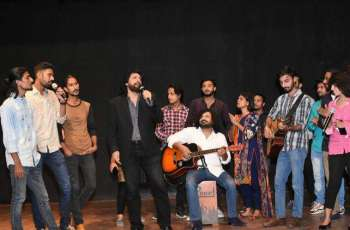 Arts Council of Pakistan Karachi conducts music workshop with renowned singer Jawad Ahmed.
